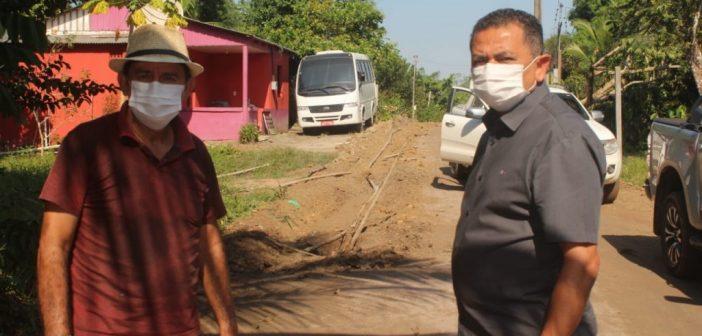 Prefeito visita ramais que estão sendo recuperados pela Prefeitura Municipal