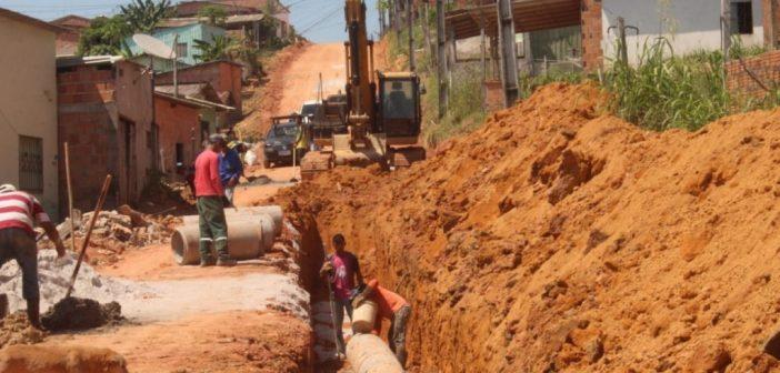 Pavimentação do bairro Morada do Sol