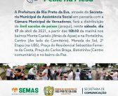 Neste sábado, 17, tem mais uma Ação do Programa Peixe na Mesa da Prefeitura municipal de Rio Preto da Eva
