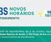 Prefeitura de Rio Preto da Eva e a Secretaria Municipal de Saúde amplia o horário de atendimento nas UBS