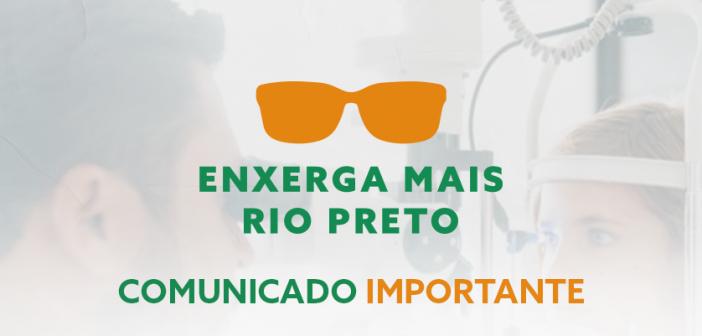 Nestes sábado e domingo, dias 16 e 17 de outubro, acontecerá mais um mutirão do Programa Enxerga Mais Rio Preto da Eva